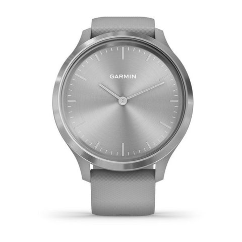 Garmin vivomove 3 - Sport (44mm) - Silver Stainless Steel Bezel with Powder Gray Case and Silicone Band