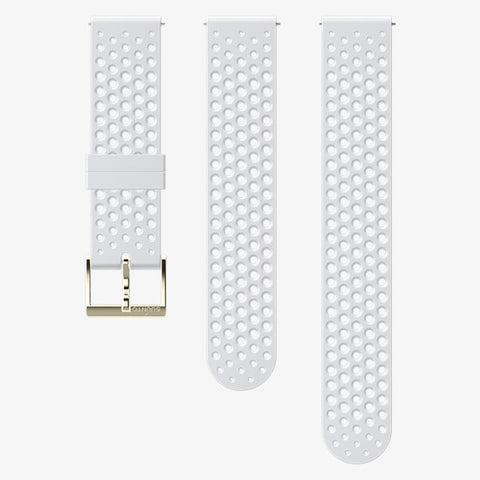 Suunto 20mm Athletic 1 Silicone Strap - White/Gold (Small/Med)