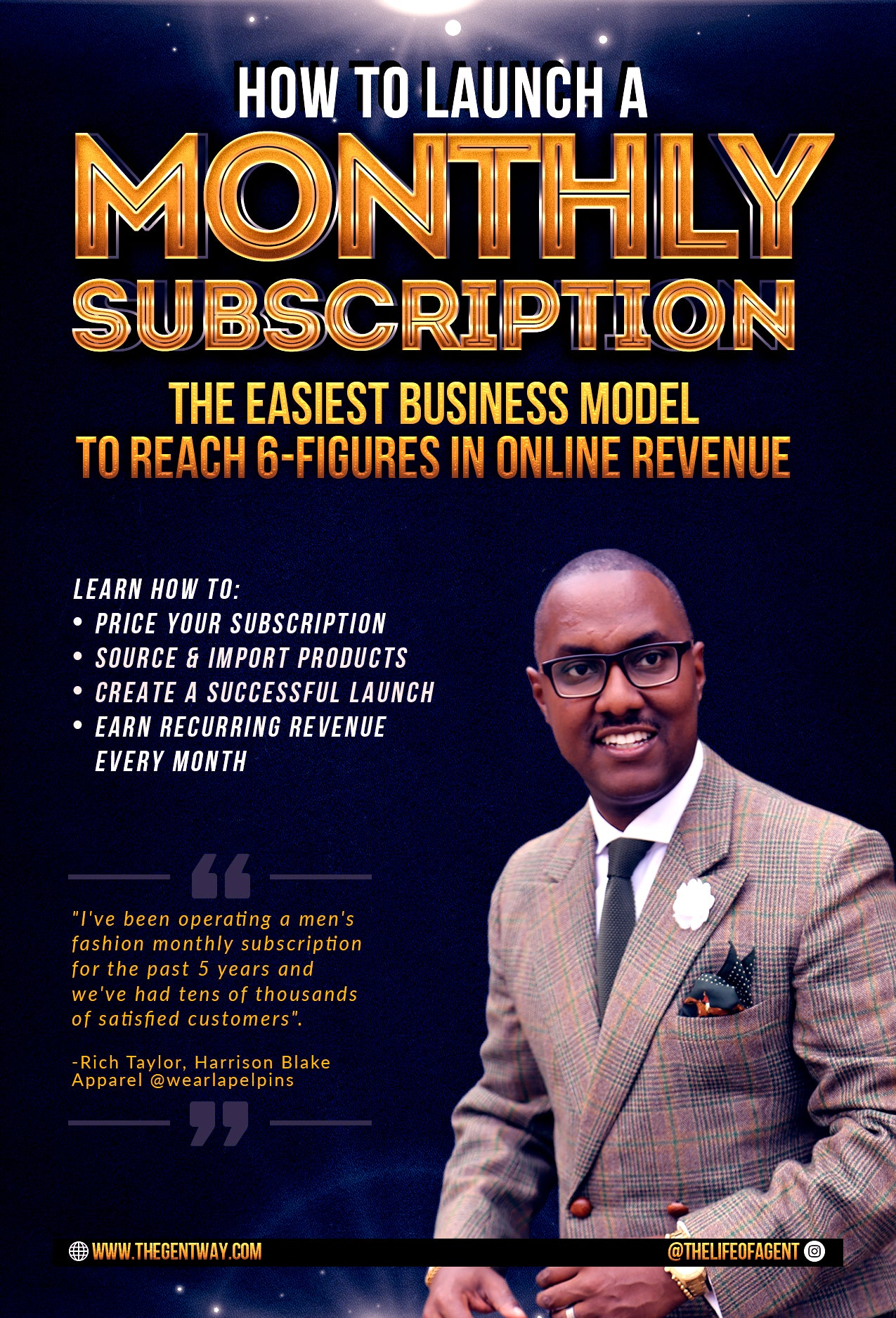 How to Start a Monthly Subscription (1 Hour Training)