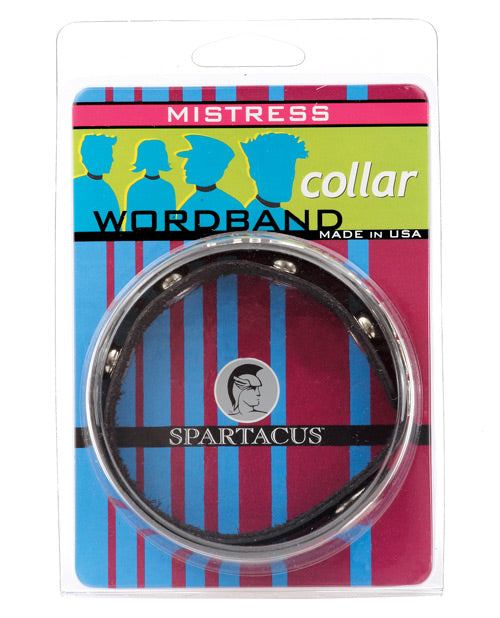Spartacus Mistress Word Collar