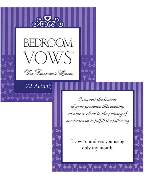 Bedroom Vows For The Passionate Lovers Game - 72 Activity Cards