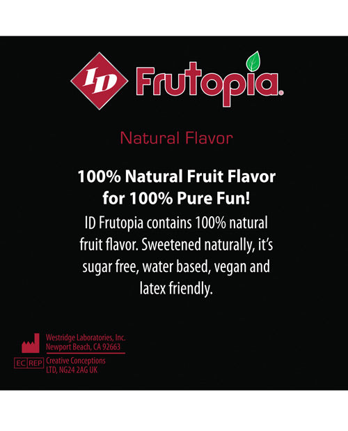 Id Frutopia Natural Lubricant - 3.4 Oz Raspberry