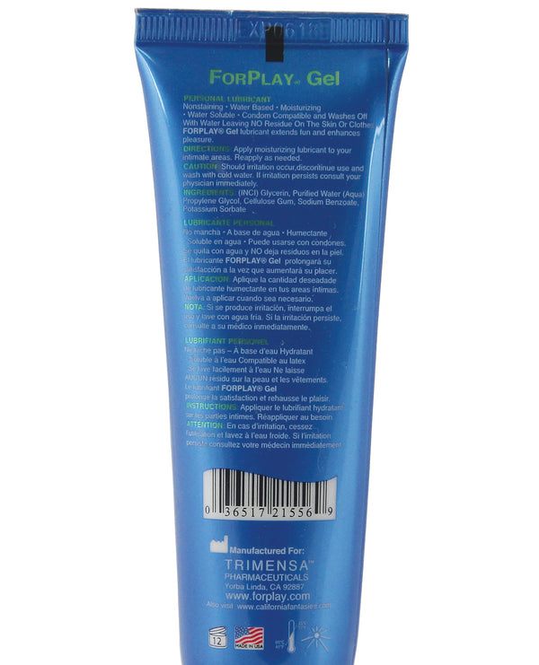 Forplay Gel Lubricant -  2.2 Oz Tube