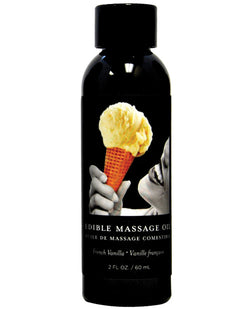Earthly Body Edible Massage Oil - 2 Oz Vanilla