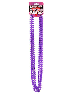 Bachelorette Outta Control Beads - Metallic Purple Pack Of 6