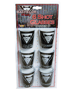 Bachelor Party Shot Glasses - Asst. Pack Of 6