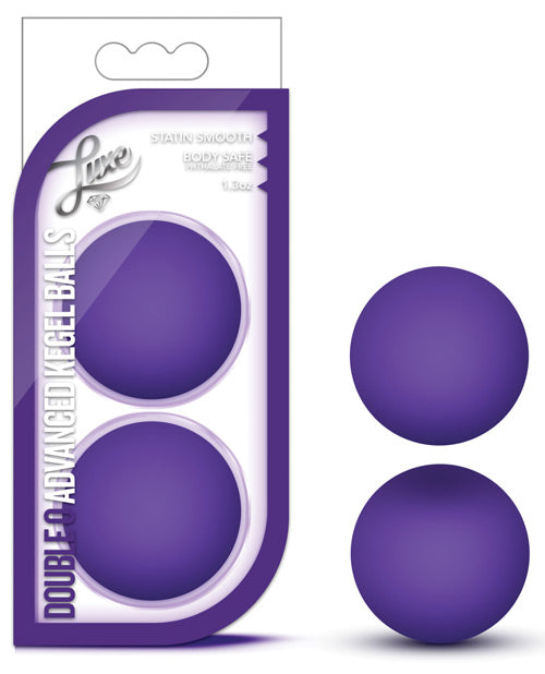 Blush Luxe Double O Advanced Kegel Balls - Purple
