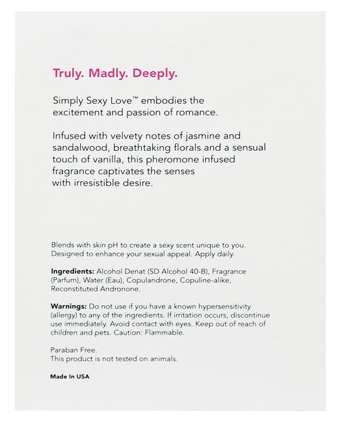 Simply Sexy Love Pheromone Infused Perfume - 100 Ml