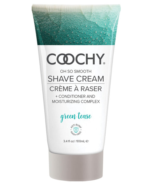 Coochy Shave Cream - 3.4 Oz Green Tease