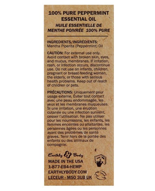 Earthly Body Pure Essential Oils - .34 Oz Peppermint