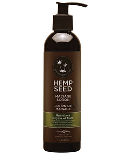 Earthly Body Hemp Seed Massage Lotion - 8 Oz Guava Lava