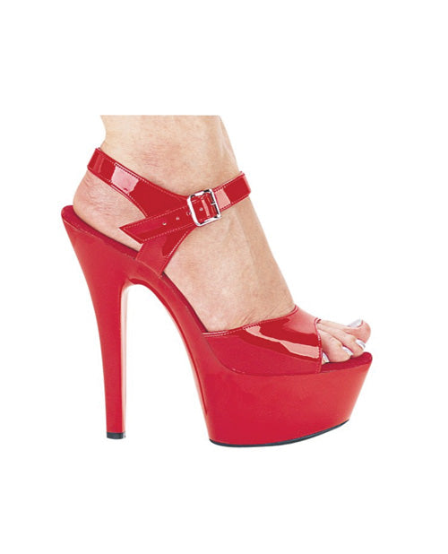 "Ellie Shoes Juliet 6"" Pump W-2"" Platform Red Eight"