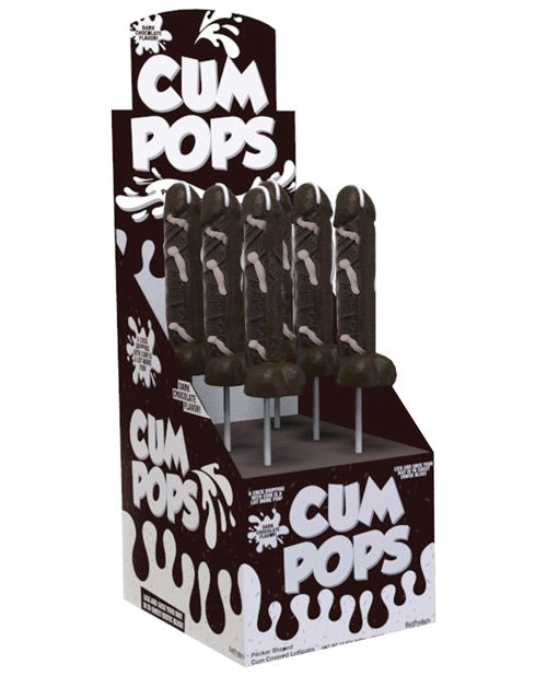 Cum Cock Pops Display - Dark Chocolate Display Of 6