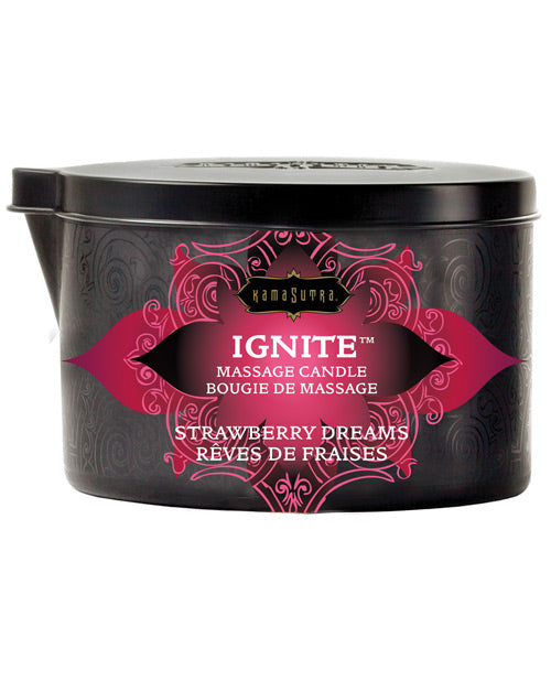 Kama Sutra Ignite Massage Candle - Strawberry Dreams