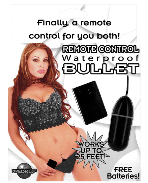 Remote Control Bullet Waterproof - Black