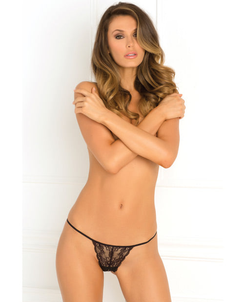 Rene Rofe Get Your Back Crotchless Thong Black M-l