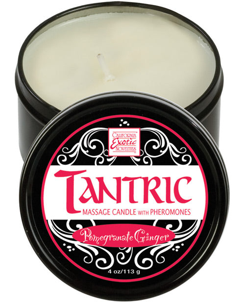 Tantric Soy Candle W-pheromones - Pomegranate Ginger