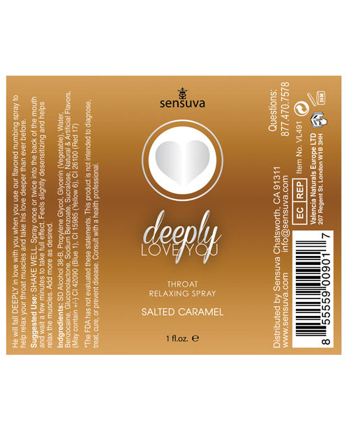 Deeply Love You Throat Relaxing Spray - 1 Oz Salted Caramel
