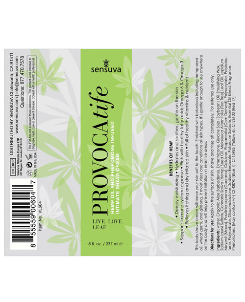 Provocatife Hemp Oil Shave Cream W-pheromones