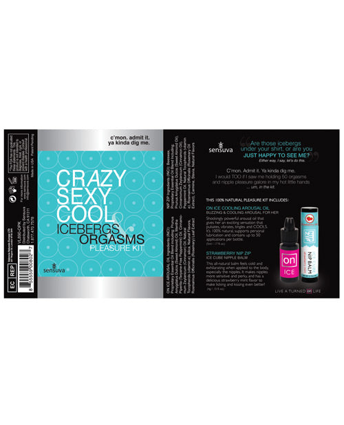 Sensuva Crazy Sexy Cool Icebergs & Orgasms Pleasure Kit