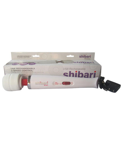 Shibari My Wand 2 Speeds Plug In - White