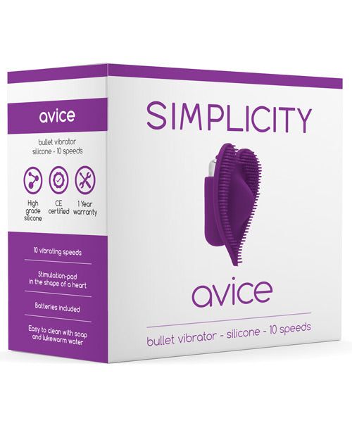 Shots Simplicity Avice Bullet Vibrator - 10 Speed Purple