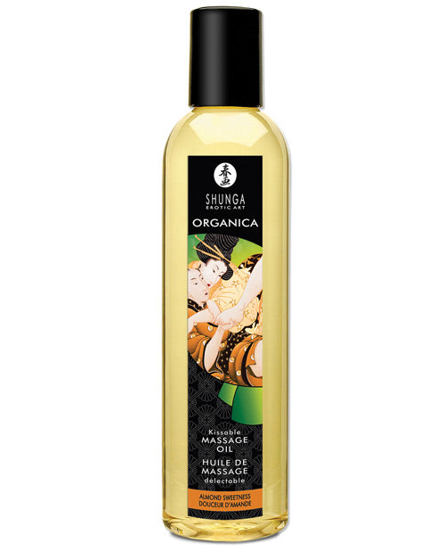 Shunga Organica Kissable Massage Oil - 8 Oz Almond Sweetness