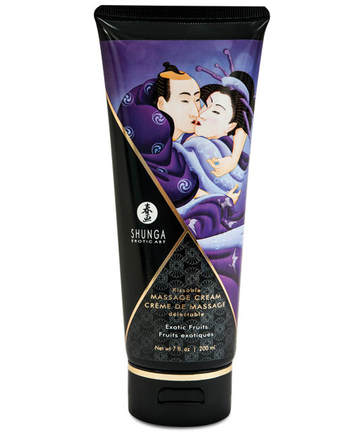 Shunga Kissable Massage Cream - 7 Oz Exotic Fruits