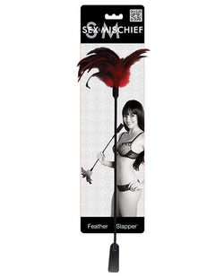 Sex & Mischief Feather Slapper - Red-black Feathers