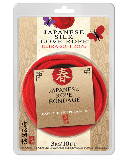 Japanese Silk Love Rope - 10' Red