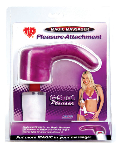 Magic Massager Pleasure Attachment - G Spot Pleaser Magenta
