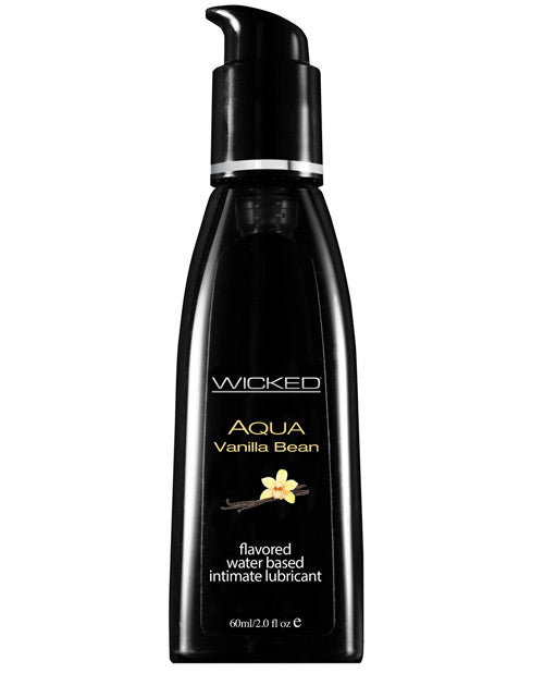 Wicked Sensual Care Aqua Waterbased Lubricant - 2 Oz Vanilla Bean