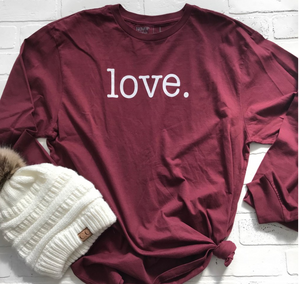 LOVE. - LONG SLEEVE TEE