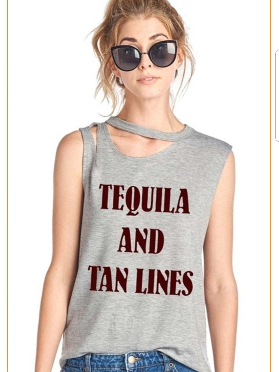 TEQUILA AND TAN LINES T-SHIRT
