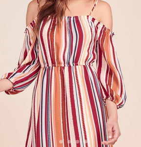 BB DAKOTA 0- ETERNAL SUNSHINE STRIPED DRESS