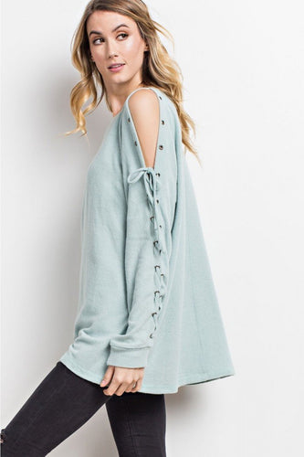 EASEL ARE TIE SWEATSHIRT-TOPS-Lulu-Bela