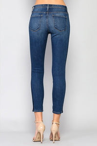 FLYING MONKEY TUXEDO STIPE JEANS-BOTTOMS-Lulu-Bela