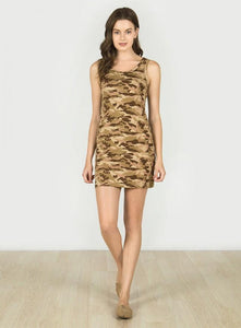 MONORENO - SLEEVELESS CAMO PRINT DRESS-DRESSES-Lulu-Bela