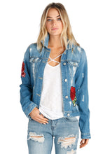ELAN - DENIM ROSE JACKET-TOPS-Lulu-Bela