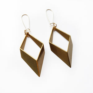 LARGE OPEN BRASS EARRINGS-Lulu-Bela