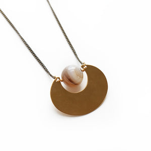 STRATOSPHERE NECKLACE WITH HEIHUA AGATE-JEWELRY-Lulu-Bela