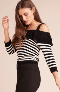 BB DAKOTA - HOLLABACK GIRL COLD SHOULDER SWEATER