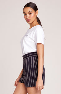 BB DAKOTA POWER STRIPE SUITING SHORT