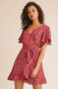 BB DAKOTA - FRIENDLY FIRE WRAP DRESS