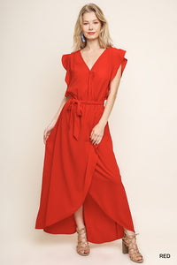 UMGEE WRAP DRESS - RED