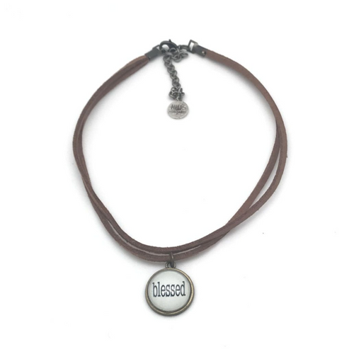 SHORT DOUBLE CHOKER NECKLACE - COURAGE