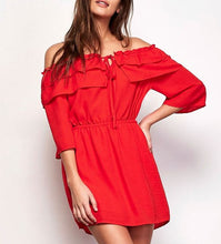 BB DAKOTA - BOWSER OFF SHOULDER DRESS