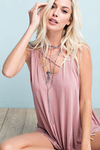 CROSS FRONT SLEEVELESS TANK
