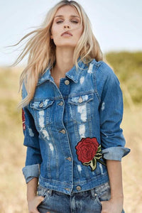 ELAN - DENIM ROSE JACKET