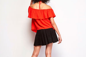 BB DAKOTA - EDMONDS HALTER TOP - POPPY RED